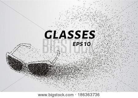 Glasses Of The Particles. The Glasses Consists Of Small Circles And Dots. Vector Illustration.