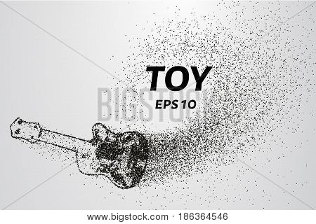 Toy Guitar Of The Particles. The Toy Consists Of Small Circles And Dots. Vector Illustration.