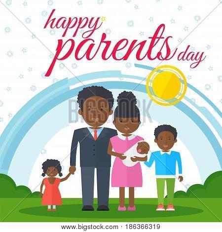 Happy Parents Day Black