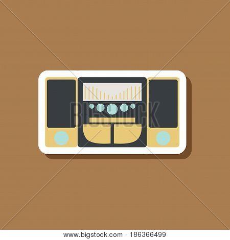 Technology gadget paper sticker music Center loudspeakers