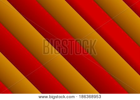 Abstract rectangle background. Backdrop from red and gold overlapping rectangle geometric objects. 3D effect on red and orange lines with shadow.
