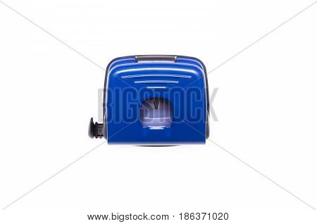 Hole puncher isolated on white background, top view.
