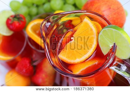 Sangria And Fruits