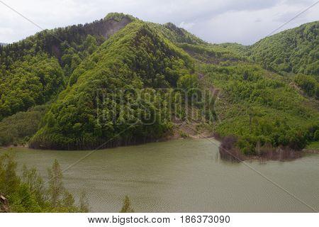 Beautiful Landscape From Siriu Barrage, Buzau County, Romania