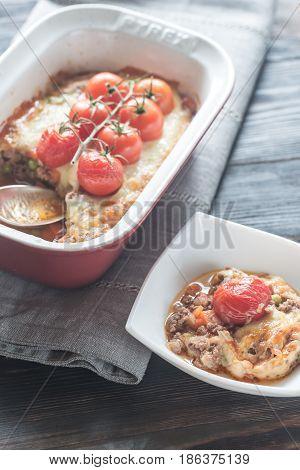 Mozzarella Meat Pie