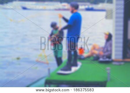 Wakeboarding- Blur Background