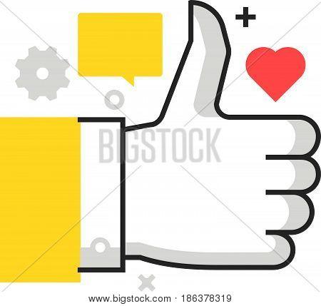 Color Box Icon, Social Campaign Illustration, Icon