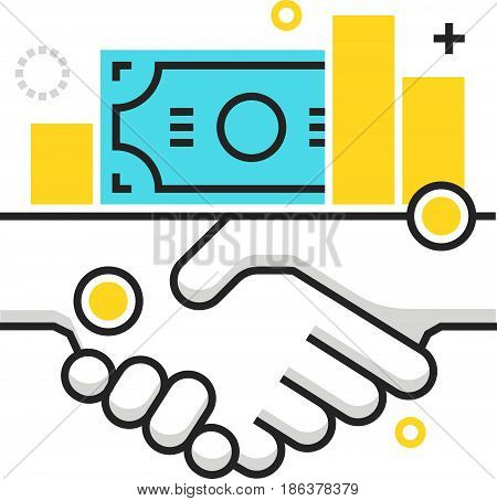 Color Box Icon, Wealth, Salary Concept Illustration Illustration, Ico