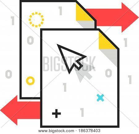 Color Box Icon, Data Exchange Illustration, Icon