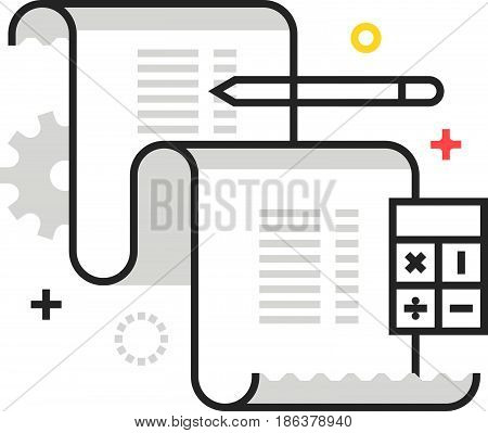 Color Box Icon, Invoice Illustration, Icon