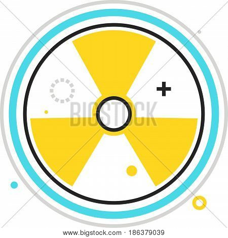 Color Box Icon, Nuclear Energy Illustration, Icon