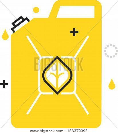 Color Box Icon, Bio Fuel Illustration, Icon