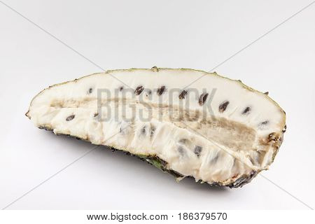Soursop (Annona muricata) isolated on white background
