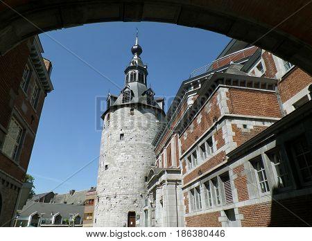 Belfry of Namur, impressive medieval tower in Namur province, Wallonia regeion, Belgium