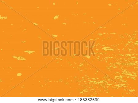 Shabby colored texture. Rectangular grunge background. Vector illustration. Orange surface with yellow spots. Abstract.