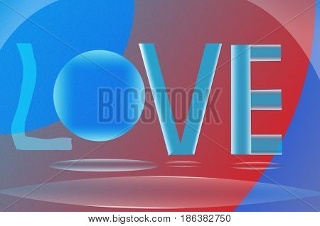 A beautiful abstract curved background or wallpaper in love