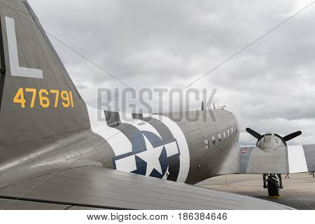 Douglas C-53 Skytrooper D-day Doll On Display