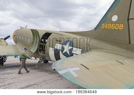 Douglas C-47 Skytrain On Display
