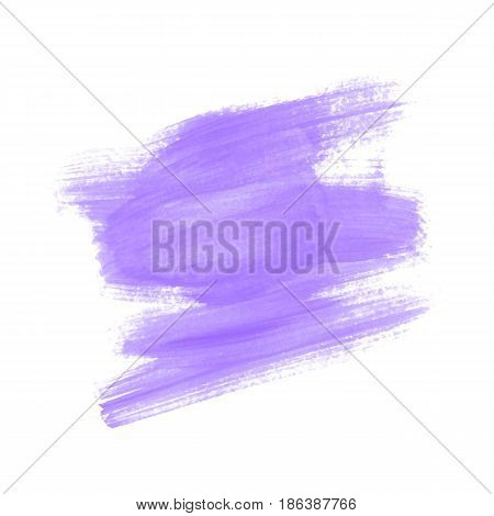 Vector hand painted dry brush style stain. Colorful painted stroke for backdrop.