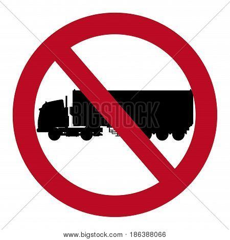 prohibited truck container transport design vector illustration