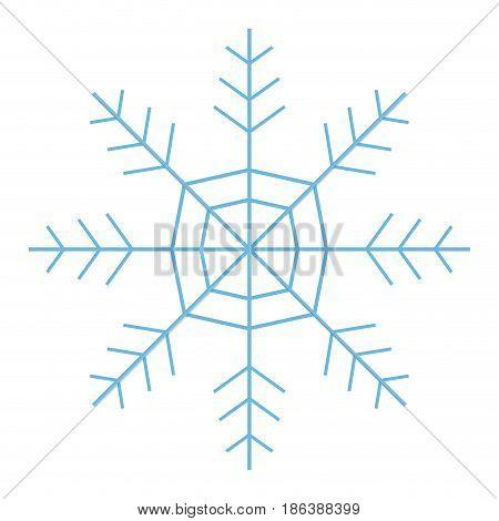 snowflake freeze winter blue icon graphic. vector illustration