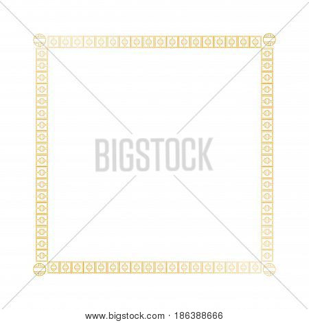 decoration square golden frame design image vector illustration