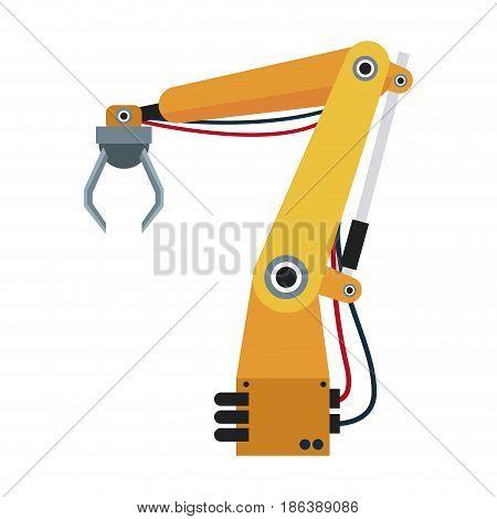 robotic hand theme, automation robot vector illustration
