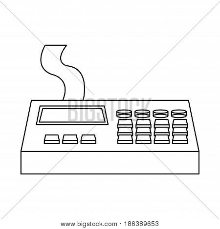 remote control panel with display monitor industrial machine vector illustration