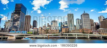 the Skyline of Brisbane in Queensland Australia