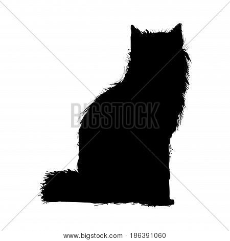 wolf wildlife animal image is pictogram. pencil sketch of wolf landscape vector illustration