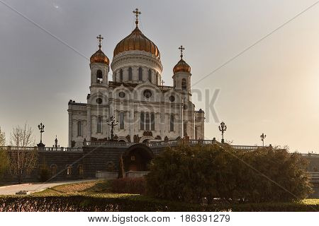 Christ The Redeemer Cathedral In The Center Of Moscow