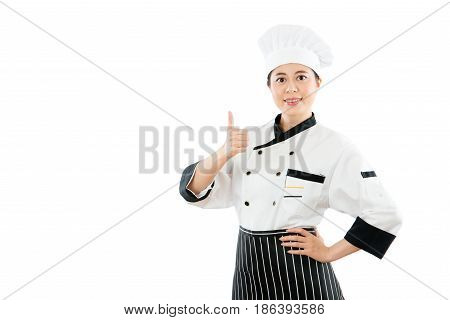 Chef Woman With Happy Thumbs Up