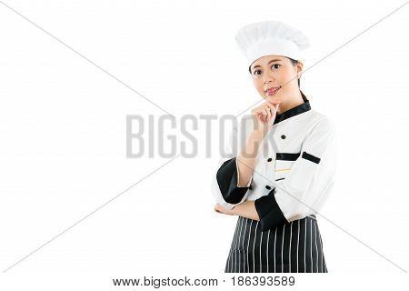 Happy Proud Of Female In Chef Uniform