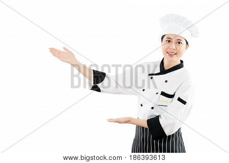 Cook Or Chef Showing And Presenting