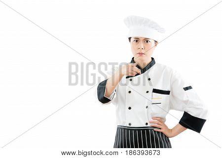 Angry Mad Woman Chef  Blame Mistake