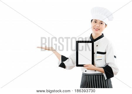 Chef Cook Showing Blank Tablet Screen