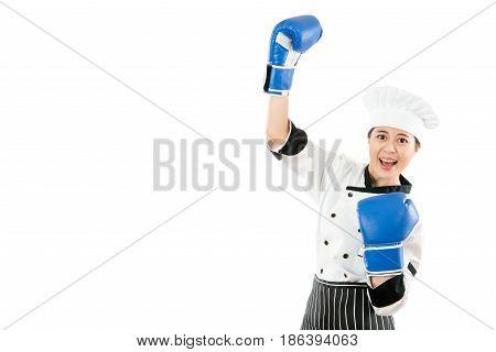 Winning Bread Master Woman Celebrating