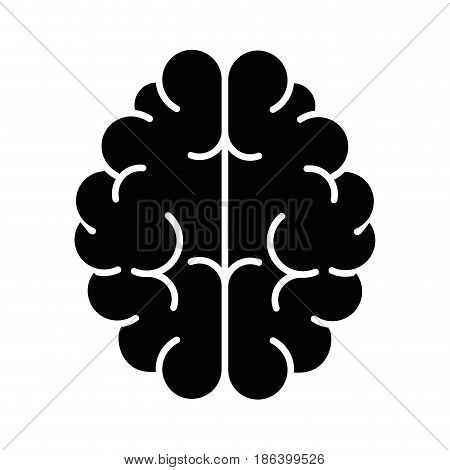 brain icon over white background. vector illustration