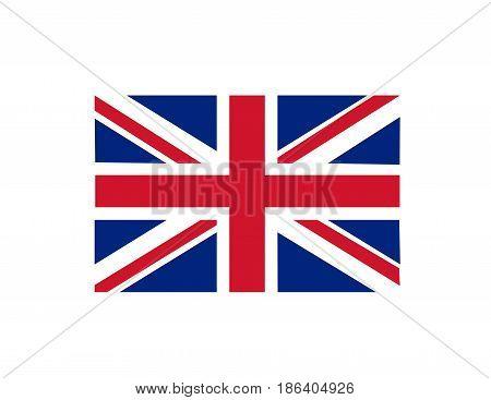 british flag illustration art on white background