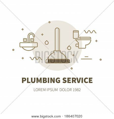 Plumbing Service Illustration Concept