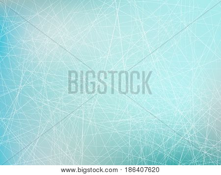 Vector illustration of skating rink with skate traces texture background.