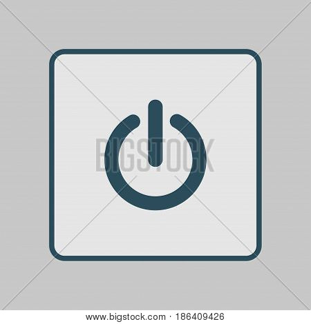 Power sign icon. Power button. Close application. Flat design style.