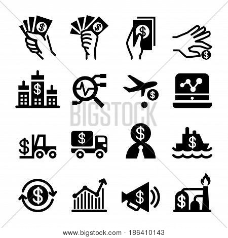 Investment icon set vector illustration Graphic design