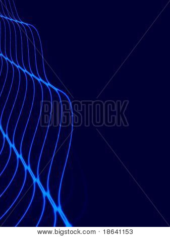 Fractal image depicting abstract waves or ripples. poster