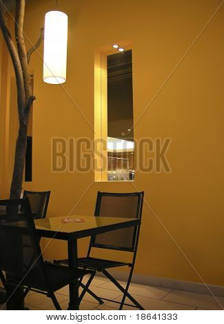 Modern Interior, Table And A Chair
