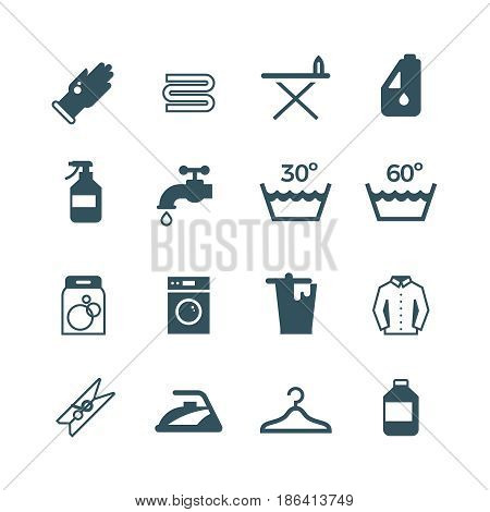 Housework and laundry vector icon. Laundry machine and washing, illustration of equipment washing