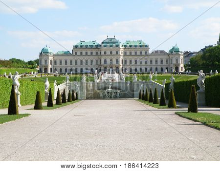 The Upper Schloss Belvedere, Vienna of Austria