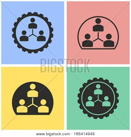 Human interaction vector icons set. Black illustration isolated for graphic and web design.