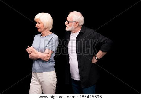 Senior Couple Gesturing