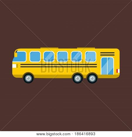 City bus school cartoon flat style mobile fast city transport fast moving vector illustration. Student road auto drive truck schoolbus cartoon public elementary wheel ride safety object isolated.